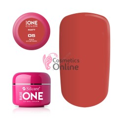 Gel UV Base One Silcare color MAT Red Mystery 5ml