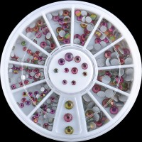Carusel cu strasuri din Crystale Curcubeu 200 buc 2-4 mm Cod: C059