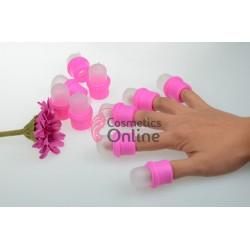 Recipiente / capsule Roz pentru indepartat unghiile false, set 10 bucati