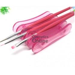 Suport pentru pensule de manichiura PB02, culoare Roz