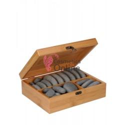 Pietre vulcanice pentru masaj, set de 35 bucati, art 9980