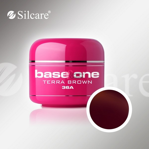 Gel UV Base One Silcare color Terra Brown 5ml