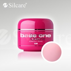 Gel UV Base One Silcare color MAT Cream Pink 5 ml