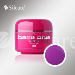Gel UV Base One Silcare color neon Violet 5ml 05