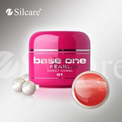 Gel UV Base One Silcare color sidefat Sweet Coral 5ml